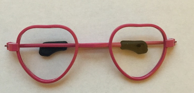 Hot Pink Heart Frame Eyeglasses