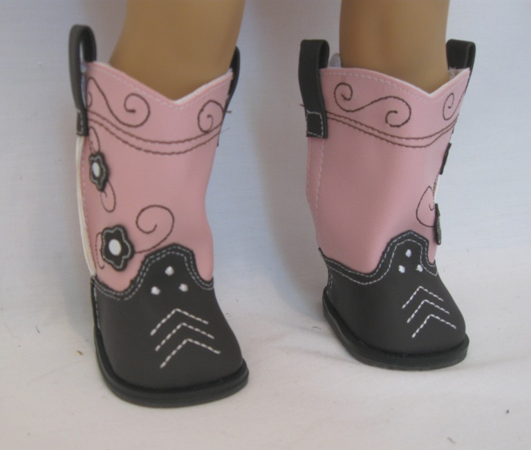 Brown and Pink Cowboy Boots