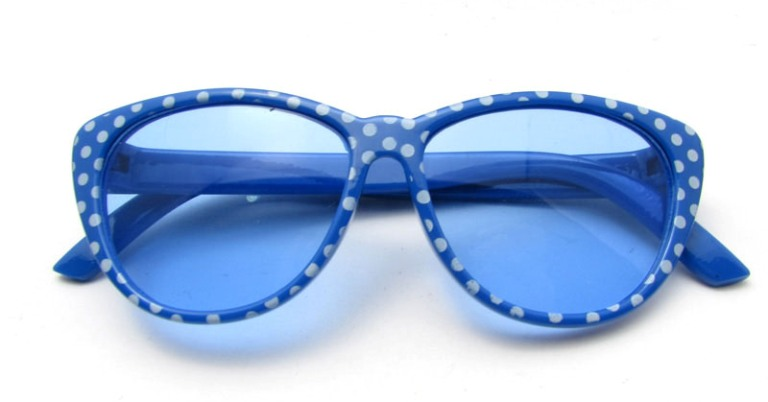 Blue Poka Dot Sun Glasses