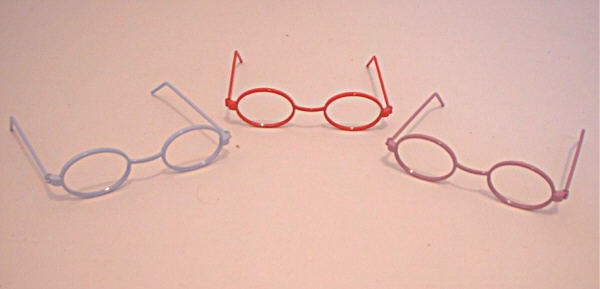 Purple Frame Oval Eyeglasses/