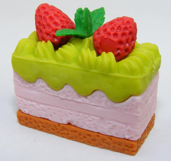 Green Frosted Princess Cake Slice